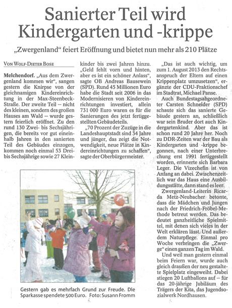 12-12-07 Einweihung Kita Zwergenland