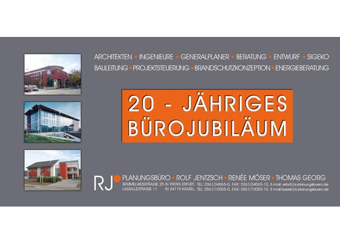 20-jähriges Bürojubiläum des Büros in Erfurt
