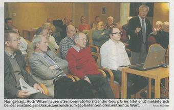 Pressemitteilung zum Neubau eines Seniorenzentrums