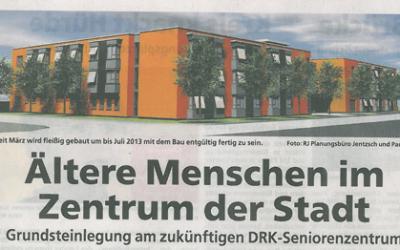 Grundsteinlegung für ein DRK-Altenpflegeheim