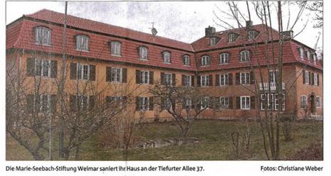 Informationen über das Bauvorhaben der Marie-Seebach-Stiftung in Weimar