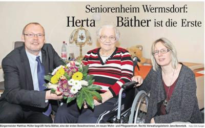 Fertigstellung des Pflegeheimes in Wermsdorf