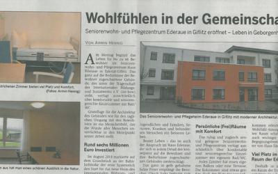 Fertigstellung des Pflegeheimes in Edertal- Giflitz