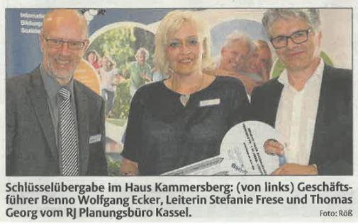 Eröffnung des Pflegeheimes in Hessisch Lichtenau