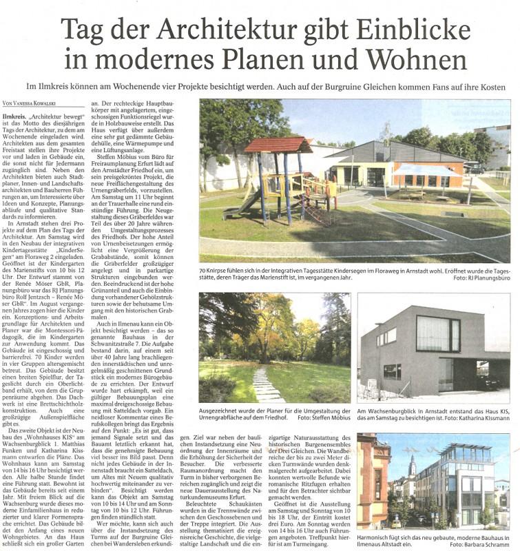 Pressemitteilung Arnstädter Allgemeine